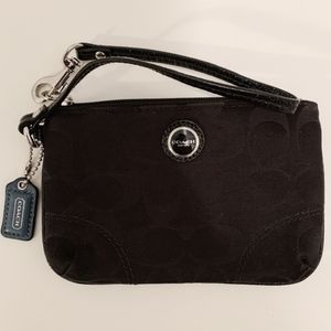 Womens Coach Black Wristlet